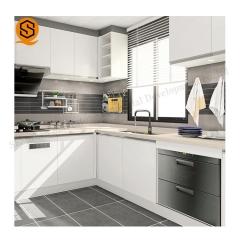 厂家定制石英石橱柜台面厨房台面耐高温抗油污进口人造石英石中岛