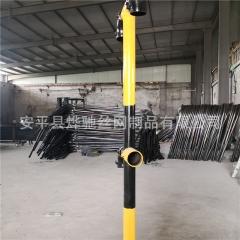 工地临边防护立柱 楼层隔离栏杆干字型立柱 黄黑色警示栏杆