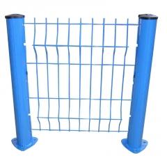 厂家现货销售桃型柱护栏 园林绿化三角折弯护栏网 隔离围栏网