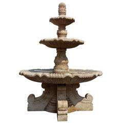 厂家直供石雕喷泉多层流水喷泉 招财水景水钵景观装饰品摆件