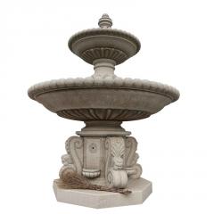 厂家直供晚霞红石雕喷泉天然喷水池 多层户外园林流水喷泉摆件