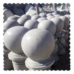 厂家直销大理石路障球 广场街道花岗岩石球挡车石 规格可定制