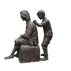 定制玻璃钢仿铜人物雕塑公园广场名人雕塑景观百善孝为先校园文化