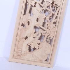 厂家直销东阳雕刻镂空雕花通花板屏风隔断吊花格挂落背景墙格定做