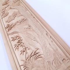 厂家直销东阳木雕实木背景墙仿古门窗中式花板隔断雕花板定制批发
