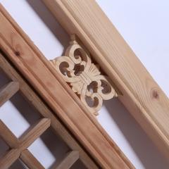 厂家直销中式古典双框花格白坯花格隔断外框松木原木可订做批发