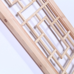 厂家直销榫卯结构松木花格隔断 古典中式原木白坯门窗可订做批发