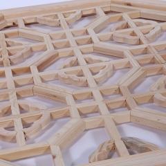 厂家直销古典中式八角花格 原木白坯八角门窗家用门窗花格可定制