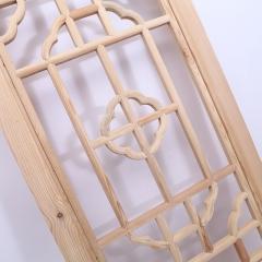 厂家直销东阳木雕花格松木镂空花窗中式实木雕刻木质工艺品定制