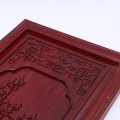 厂家直销机雕花板红花梨喷绘花板实木雕刻仿古雕花板家装挂饰品批