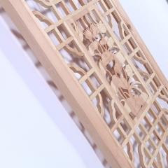 厂家直销典雅家用办公实木背景墙 可定做原木白坯花格隔断 可定制