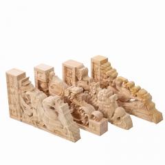 东阳木雕角 中式家居实木雕花装饰 东阳中式木雕角花片 工厂直销