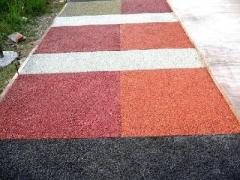 南充园区生态透水混凝土厂家-透水路面-彩色透水地坪施工