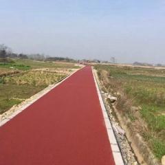 厂家供应常山徐村绿道彩色透水沥青混凝土 排水性沥青路面