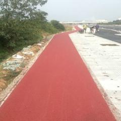 生产供应彩色透水沥青混凝土 衢江区滨港中路彩色沥青颗粒