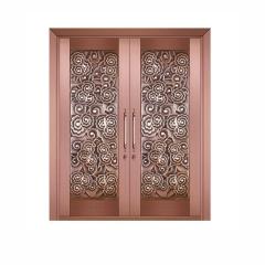 门窗厂家直销 别墅铜门 不锈钢门 酒店客厅入户庭院大门
