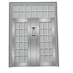 304不锈钢门 防盗单元门楼宇门楼道对讲可视门定做厂家直销