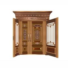 厂家直销 子母铜艺门 不锈钢铜门 别墅铜门 家用进户不锈钢仿铜门