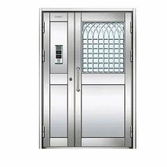 厂家定制 304不锈钢防盗门 定制工程不锈钢门 不锈钢楼宇单元门