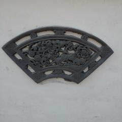 扇形镂空砖雕花窗六角型 河北省邯郸市永年县七方砖雕厂家直销