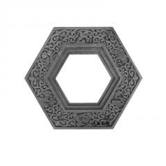 六角十字多边形什锦窗花砖雕挂件 镂空窗花砖雕 透窗仿古砖雕中式