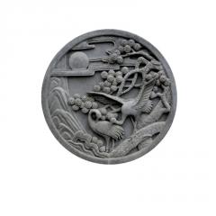 砖雕松鹤延年 中式仿古建筑影壁墙背景墙 水泥砖雕 支持定做