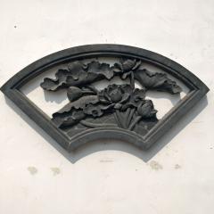 厂家直销仿古砖雕扇形梅兰竹菊 围墙镂空砖雕 四合院围墙水泥砖雕
