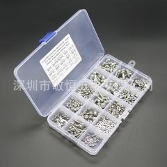 400pcs M2M2.5M3M4M5  不锈钢304十字盘头组合螺丝配螺母组合套装