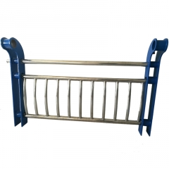 景观河道安全护栏 304不锈钢复合管桥梁护栏 隔离防护栏杆可定制