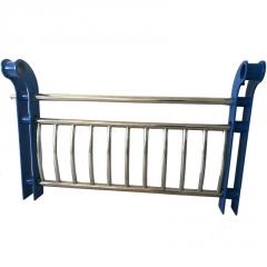 桥梁防撞护栏 厂家定制Q235锌钢河道公路护栏 隔离栏杆山东护栏厂