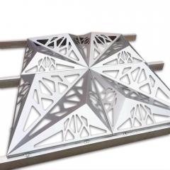 厂家直销风格独特造型铝单板雕花镂空艺术冲孔木纹铝板天花板吊顶