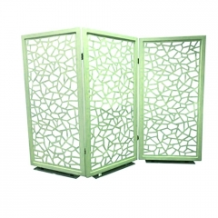 卡迈斯铝建筑材料定制装饰雕刻屏风隔断 铝雕花屏风设计 欢迎咨询