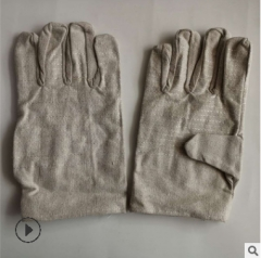 销售双层24道线帆布手套 双层帆布电焊手套 焊工加厚帆布防护手套