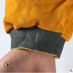 厂家批发牛皮隔热阻燃防烫电焊劳保套袖电焊套袖手臂保护