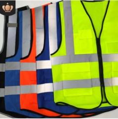 厂家直销多口袋反光衣汽车标配背心马甲环卫服装交通施工反光背心