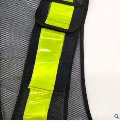 厂家直销环卫反光网布背心马甲荧光反光衣交通骑行双渔网背心马甲