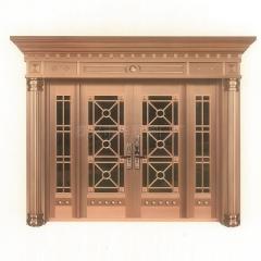 厂家供应 铜门庭院门 别墅大门进户 对开双开 不锈钢门 可定制
