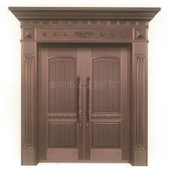 铜门厂一件定制铜别墅大门不锈钢镀铜双四开子母门真铜门钢铜门