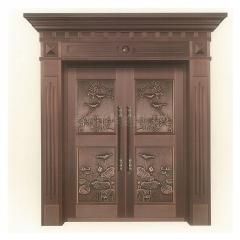 厂家直销别墅门进户大门仿铜门庭院入户大门可定制双开门