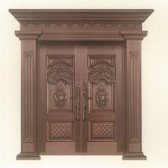 不锈钢镀铜门 对开铜艺门别墅铜门 家用进户厂家直销定制
