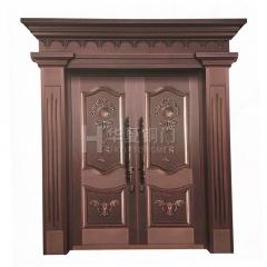 厂家直销 铜拼接门 别墅门双开门 支持定制 庭院门 欢迎来电