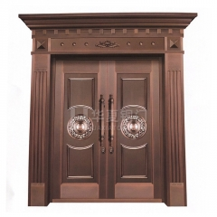 厂家直销家用进户门 四开门 对开门 别墅庭院铜门支持定制