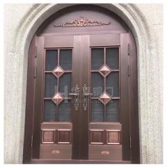 厂家直销 别墅庭院铜门 复古纯铜门 不锈钢仿铜门 支持定制