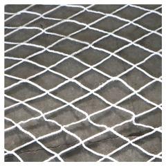 定做高空作业防坠网 建筑工地白涤纶安全平网 尼龙无结防坠安全网