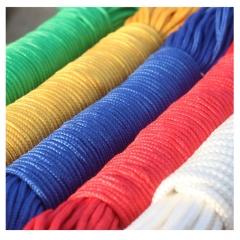 定制彩色编织绳 4mm-12mm尼龙编织手工捆扎绳子 户外帐篷晾衣伞绳