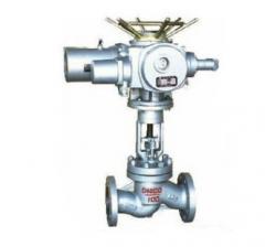不锈钢铸钢法兰电动柱塞阀UJ941SM dn20