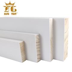 威皇厂家直销实木平板线条装饰白色封边条定制一字木线条松木原木