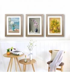 威皇实木挂墙相框木质画框外框装裱创意6寸7 8 10 12A4定做海报框