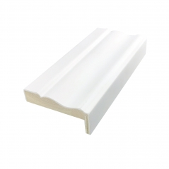 威皇厂家直销定制实木线条门套线装饰木线条收边线门框包边白色