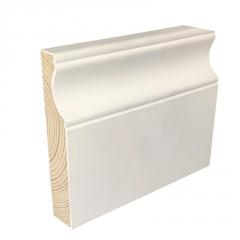 威皇厂家直销实木踢脚线定制白色7.5公分欧式地脚线11.5cm松木
